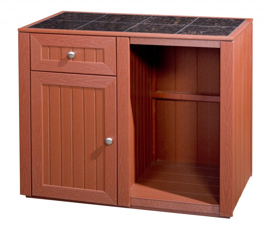 Refrigerator In Cabinet: Server Cabinet With Refrigerator Space In Red Two Doors