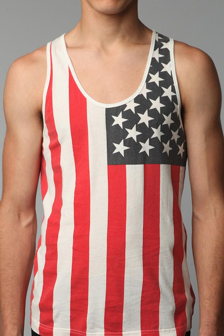 Outcast Americana Tank Top Tank Top Urban Outfitters Tops Pocket Tank Tops