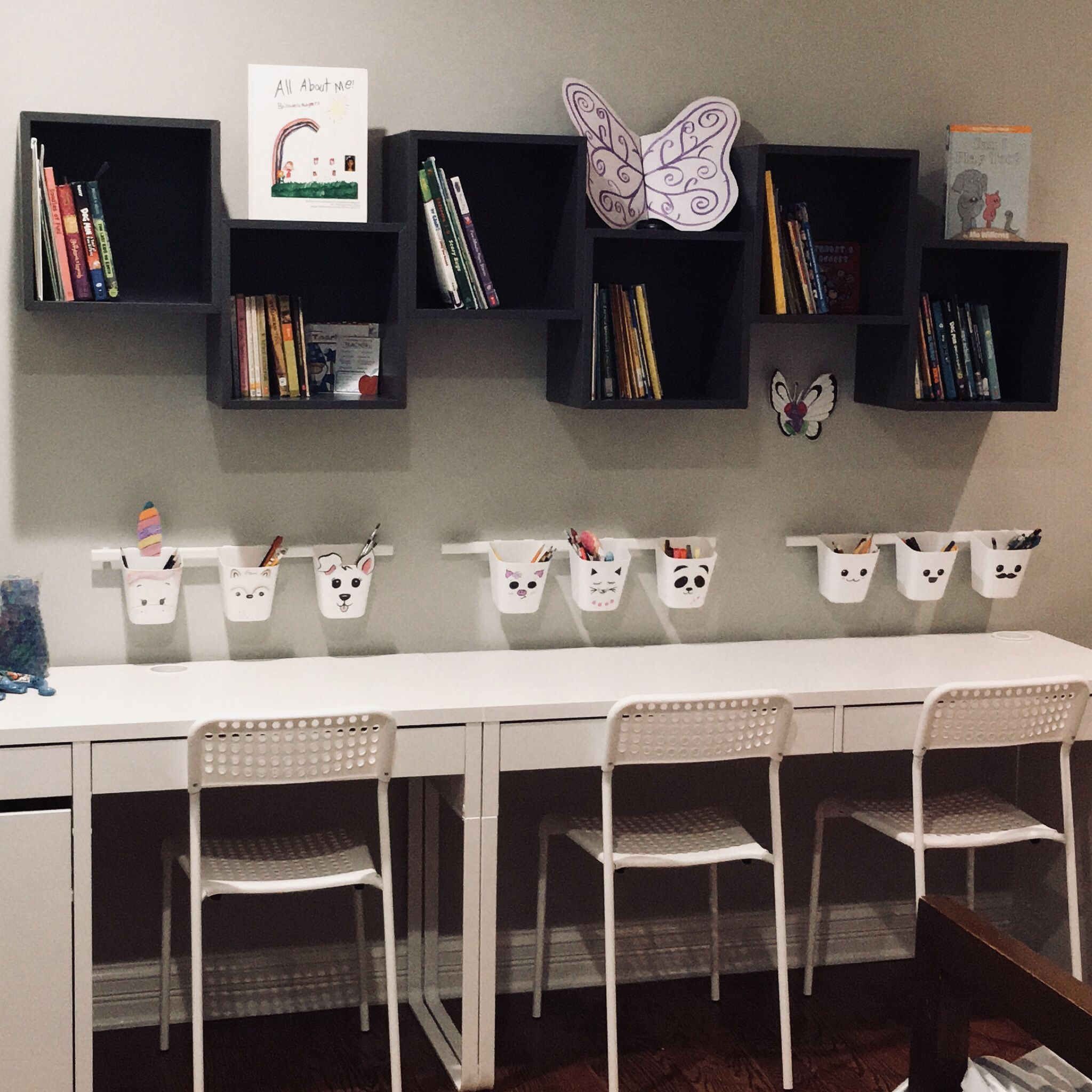 Ikea Kids Study Room: My Kids New Study Room! #homeworkstation #ikea #eket #kids