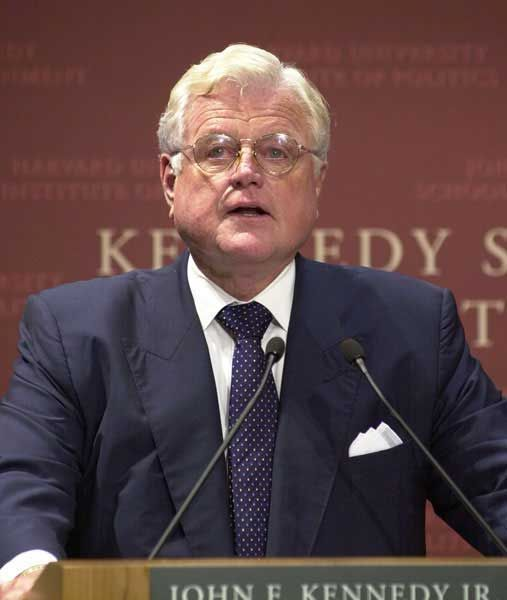 """""""The Constitution does not just protect those whose views we share; it also protects those with whose views we disagree."""" -Ted Kennedy - Senator"""