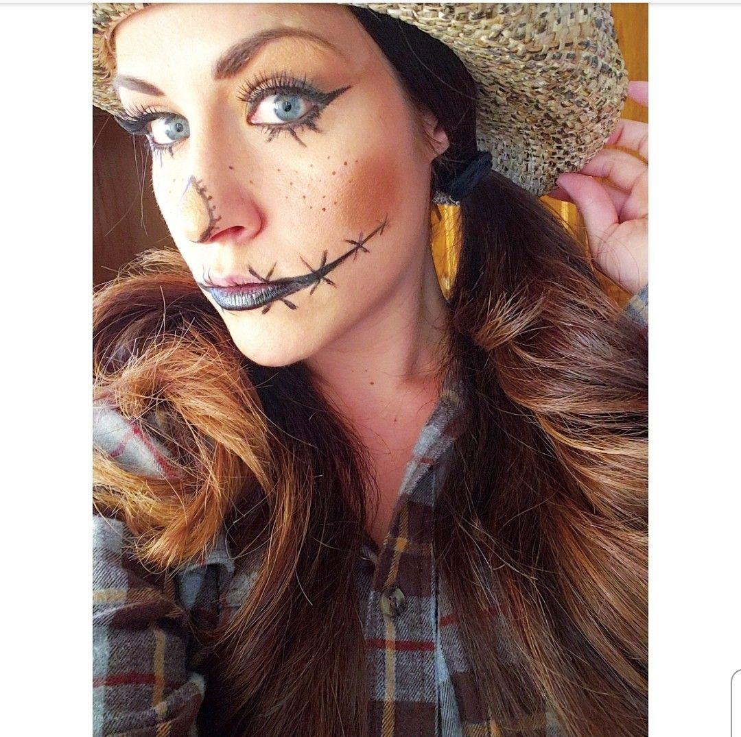 Scarecrow Halloween Makeup  #scarecrowmakeup