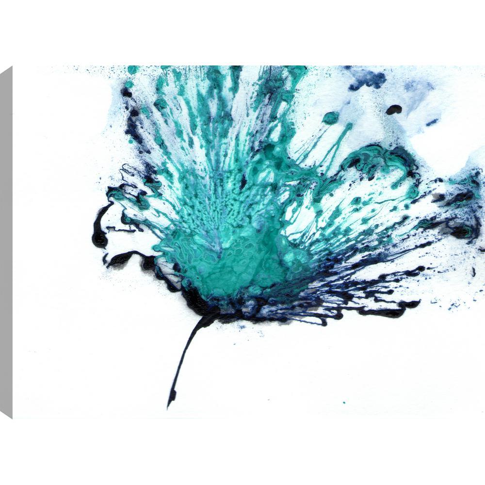The blue flower ii floral art unframed canvas print wall art