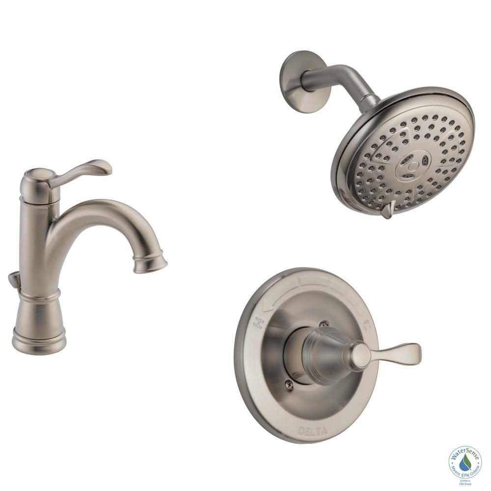 Delta Porter 4 In Centerset Single Handle Bathroom Faucet Bundle