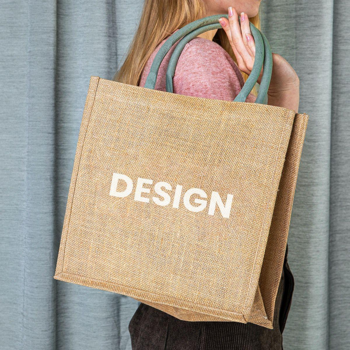 Download Download Premium Psd Of Woman With Tote Bag Mockup 2288270 Bag Mockup Tote Bag Bags
