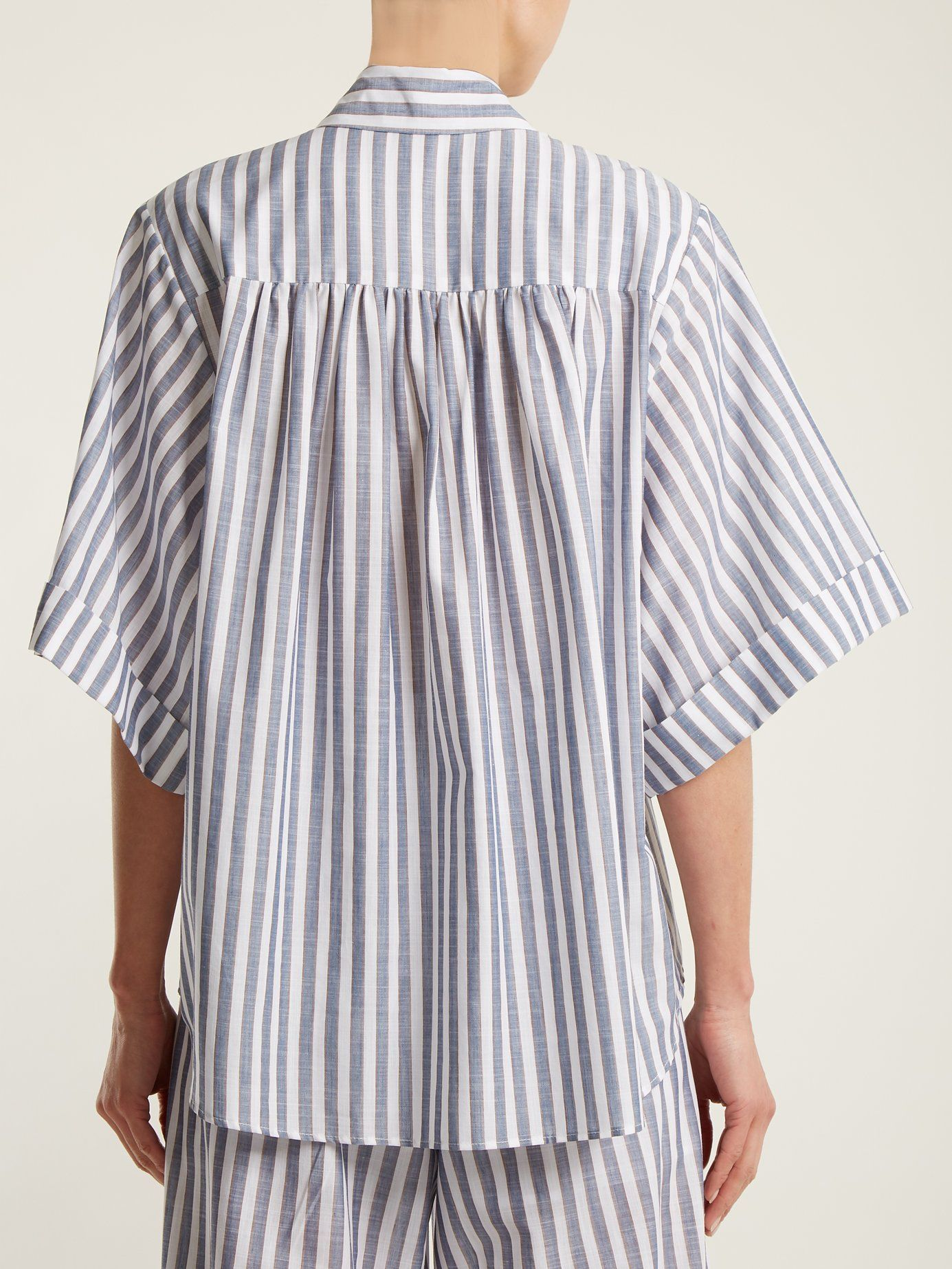 Discount Inexpensive Free Shipping Affordable Marta stripe-print cotton shirt Caroline Constas Cheap Real Authentic Geniue Stockist Sale Online 9E8eDJF6w
