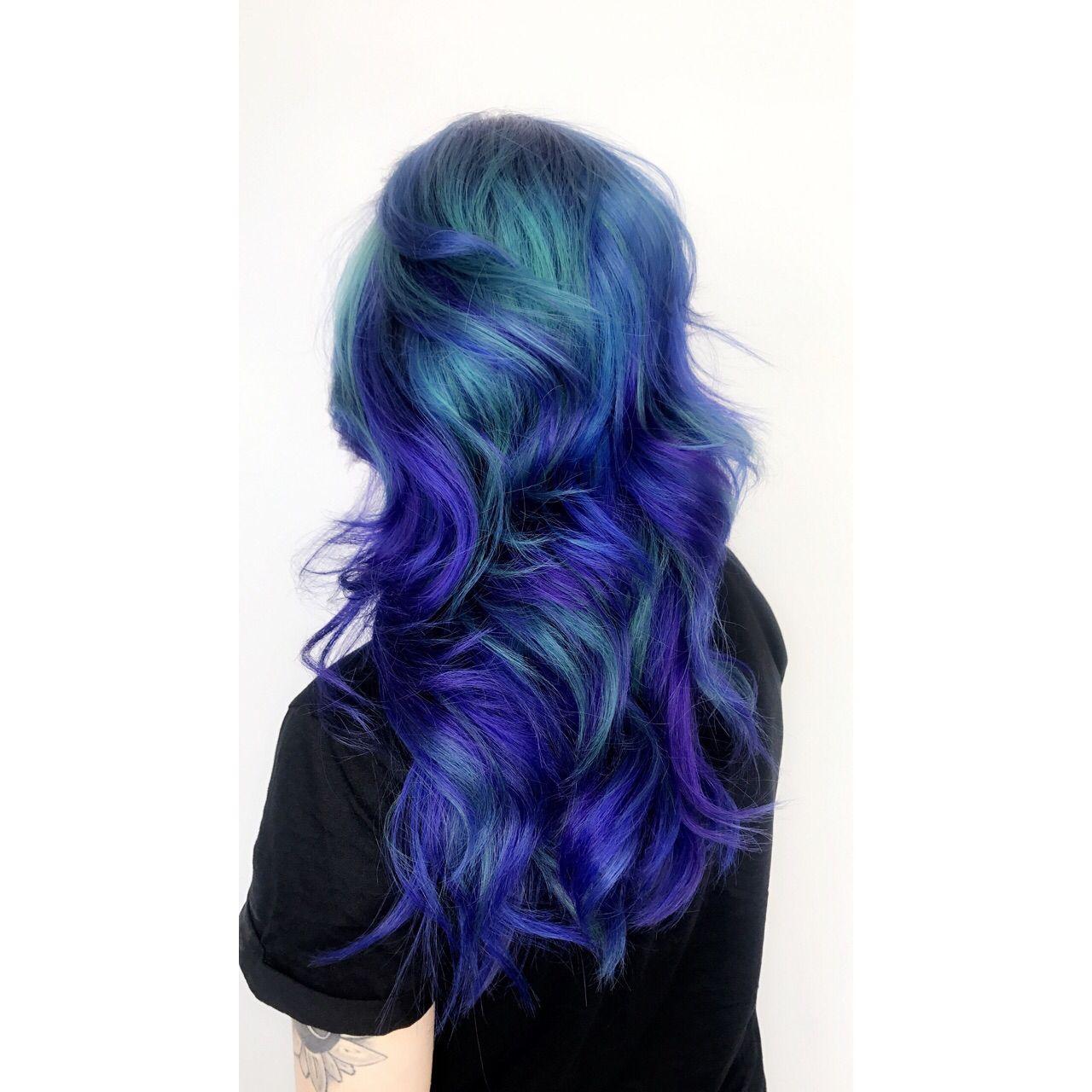Galaxy Haircolor Bluehair Hairstyles Hair Fashion Hair