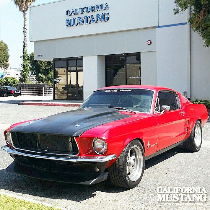 1967 Mustang Fastback Candy Apple Red
