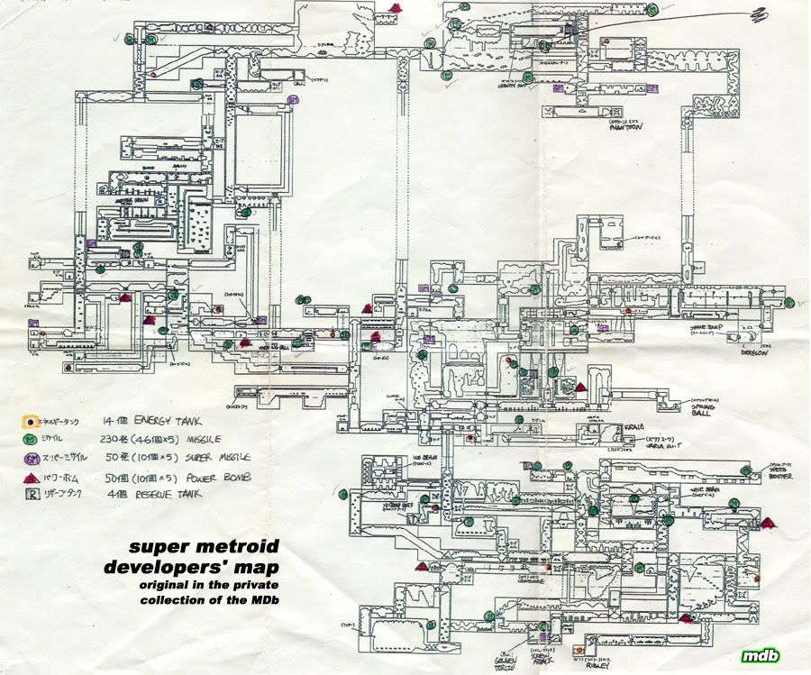 The developper map of Super Metroid (SNES).   Nerdstuff in ... on garden design map, game engine, game art design, game developer magazine, level editor, strategy map, golf design map, game producer, game testing, illustration map, making of doom, project management map, blog design map, game development, magazine design map, game artificial intelligence, video game publisher, video game developer, history map, graphic design map, interior design map, game programming, apple design map, user experience map, house design map, story elements map, game programmer, technology map, java map, level design map, communications map, architecture map, kitchen design map,