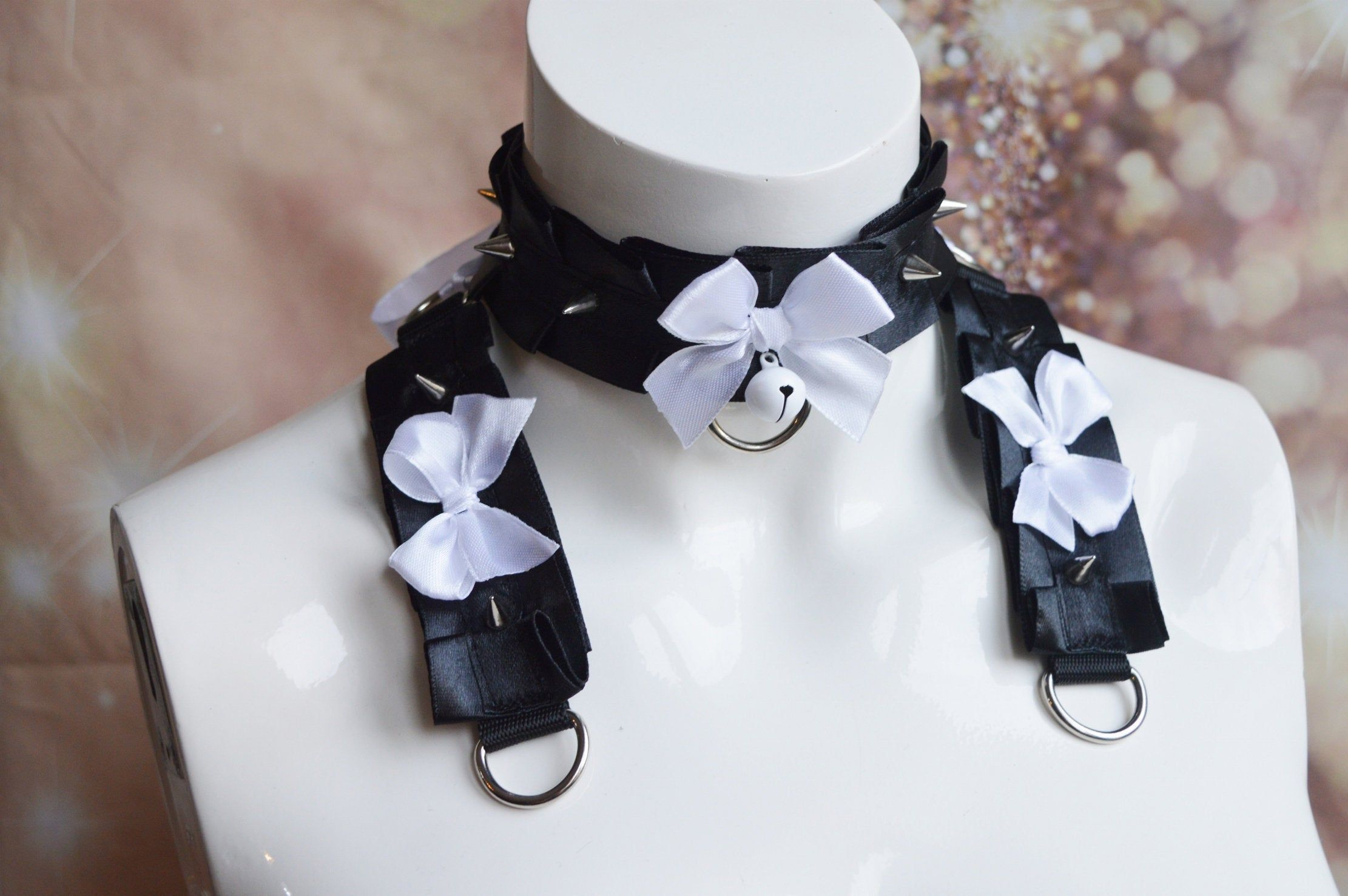 Please Carefuly Read All Description Before Purchase Madetoorder Collar Item Listed Here Is Made To Order In 2020 Kitten Play Collar Collar And Cuff Kitten Play Gear