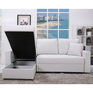 Gold Sparrow Aspen White Convertible Sectional Storage Sofa Bed Set Ping S On Sofas