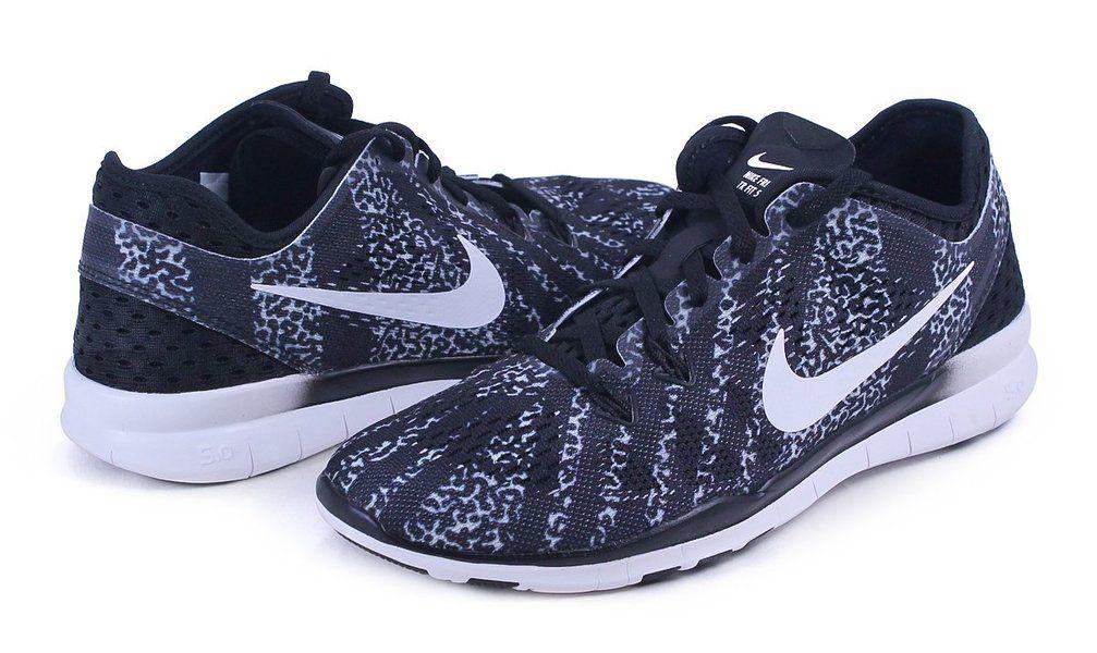 best sneakers 0f55f 10dbc Nike Free 5.0 Tr Fit 5 Black White Womens Cross training ...