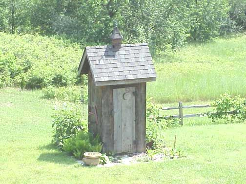 a holly michigan garden outhouse photo from l gordon used by permission click