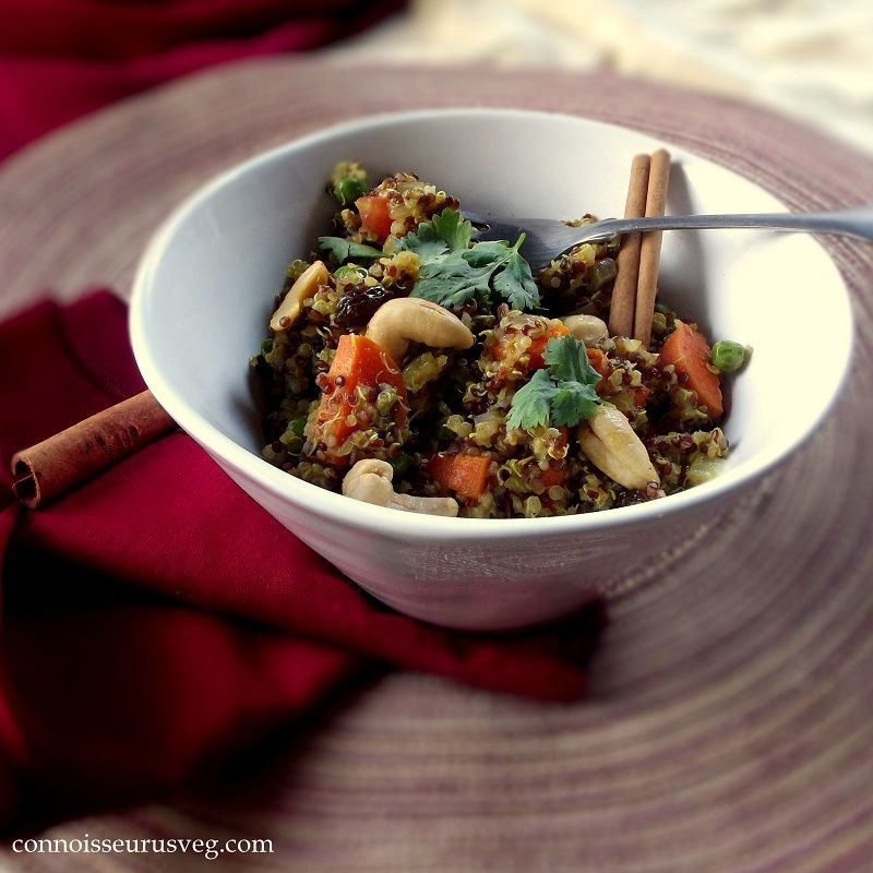 This quinoa biryani is a healthy twist on vegetable biryani that this quinoa biryani is a healthy twist on vegetable biryani that uses quinoa in place of forumfinder Images