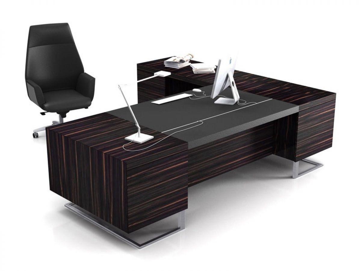 Elegant Black Executive Desks L Shaped Office Desk
