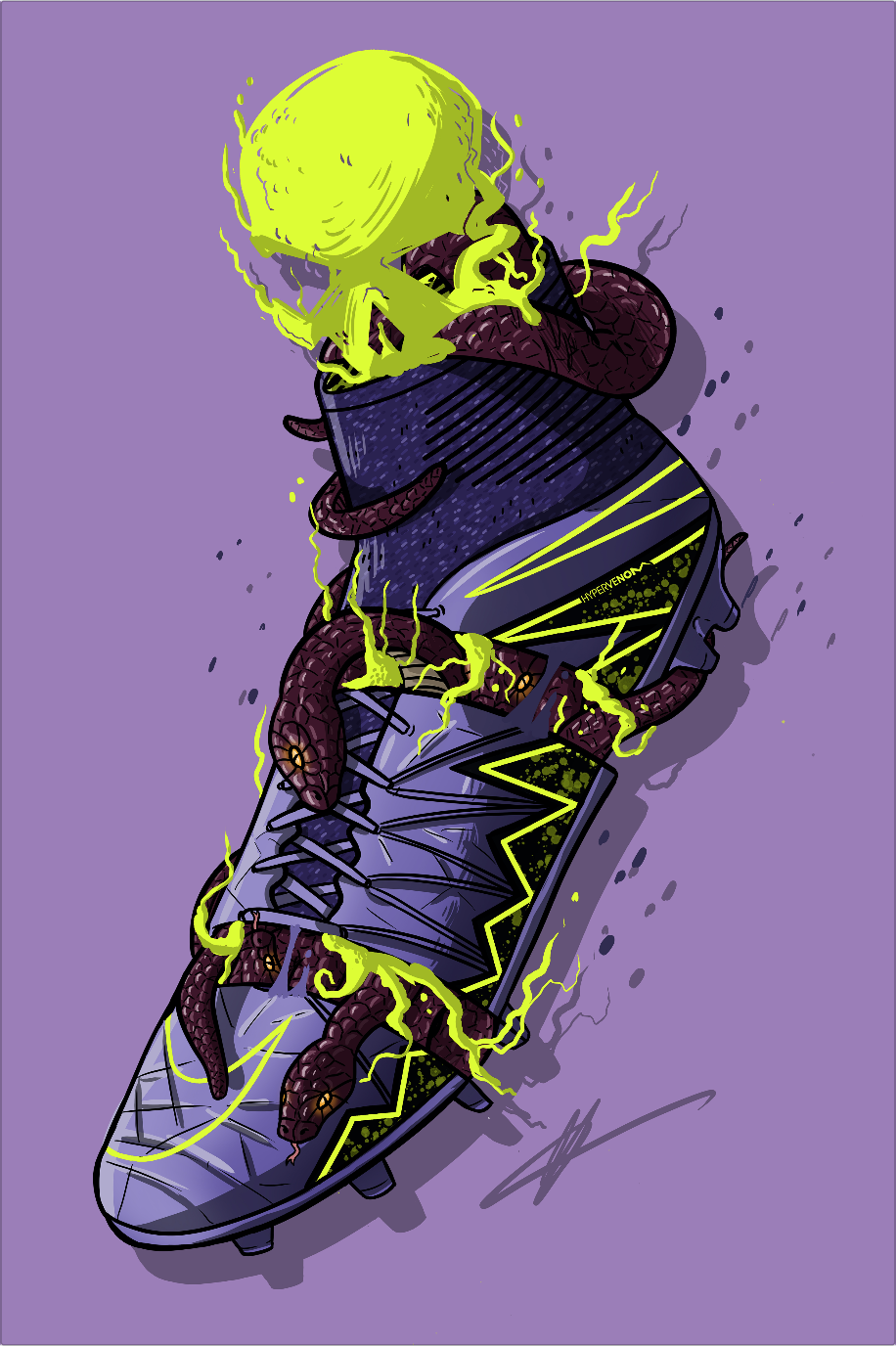 Football Art - Nike Hypervenom Phantom 2