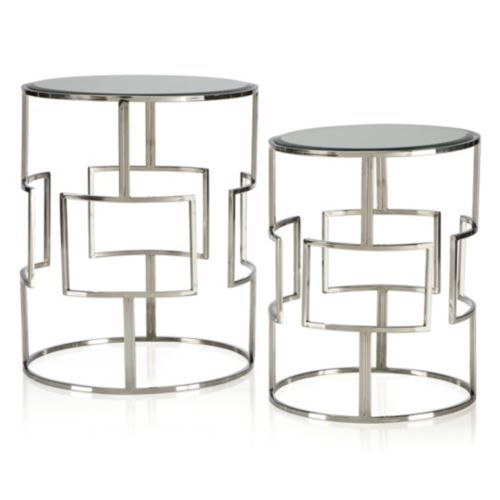 Best Mirage Accent Tables Set Of 2 Table Table Settings 400 x 300