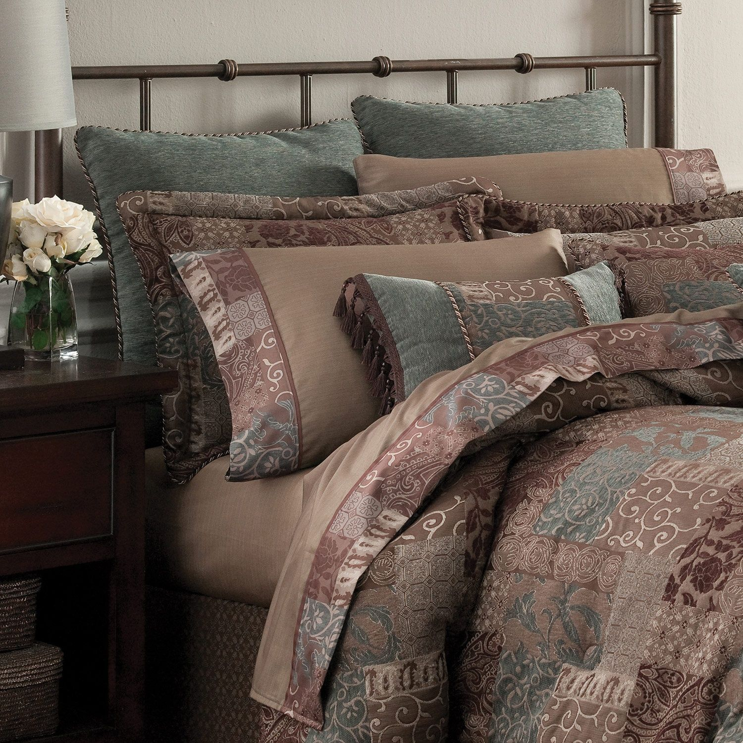 Croscill Galleria Chocolate Bedding Collection Bedding Collections