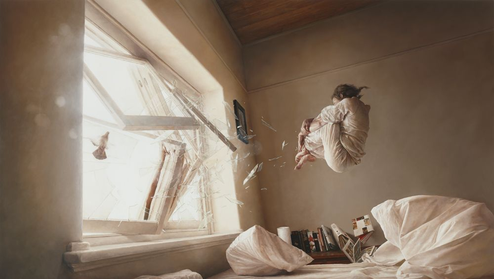 Jeremy Geddes - A Perfect Vacuum  Oil on Board 2011