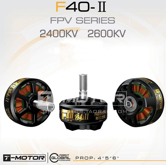 24.59$  Watch here - http://ali3lr.shopchina.info/go.php?t=32801000233 - T-motor F40 II FPV racing drone motor 2400KV 2600KV 12N14P 3-4S multi-rotor motor for quadcopter multicopter accessories 24.59$ #magazineonlinewebsite