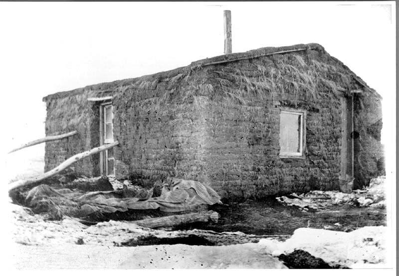 Sod House On A Homestead Near Meadow South Dakota Sod House