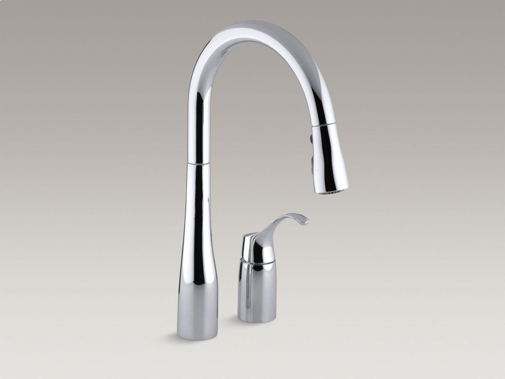 Matte Black Two-hole Kitchen Sink Faucet With 16-1/8\