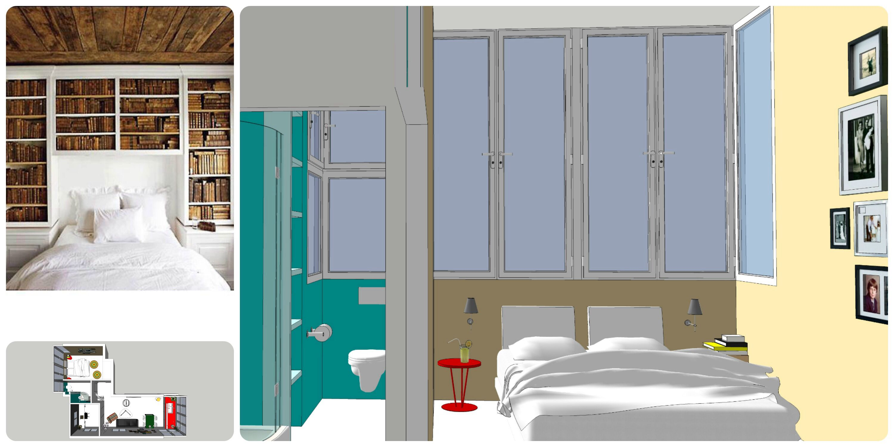 Design a 60 sq apartment in the city Tern it from 2 bedroom apartment to a 3 bedroom in a meter on days See more on my Facebook page https://www.facebook.com/Rachel.design.etc See you soon