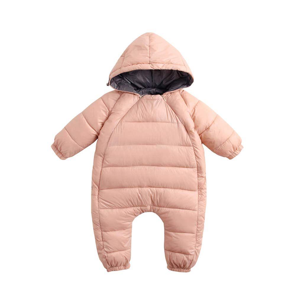 AIKSSOO Newborn Baby Boy Girl Romper Winter Thick Fleece Jumpsuit Snowsuit Outwear
