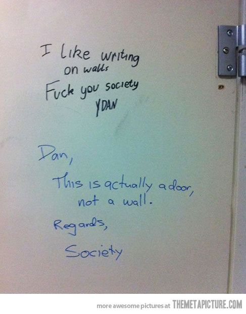 Bathroom Stall Messages i like writing on walls… | funny stuff, humor and funny images