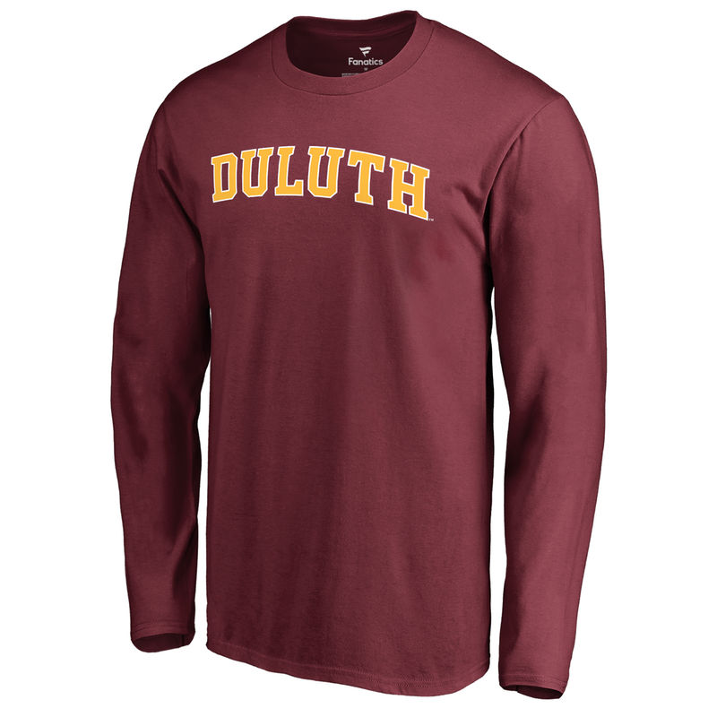 a93de626 Men's Fanatics Branded Garnet Minnesota Duluth Bulldogs Everyday Long  Sleeve T-Shirt