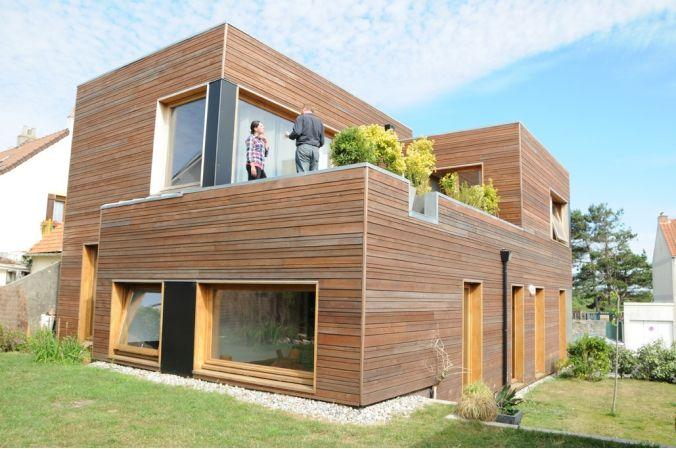 Maison ossature bois imaginée par l\'agence d\'architecture Gallet ...