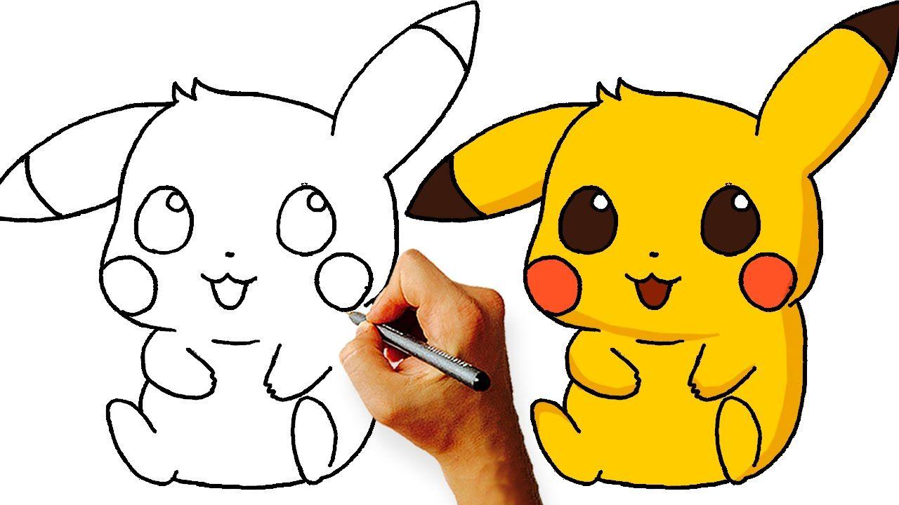 How To Draw Chibi Pikachu Pokemon Step By Step Pikachu Drawing Chibi Drawings Cute Drawings