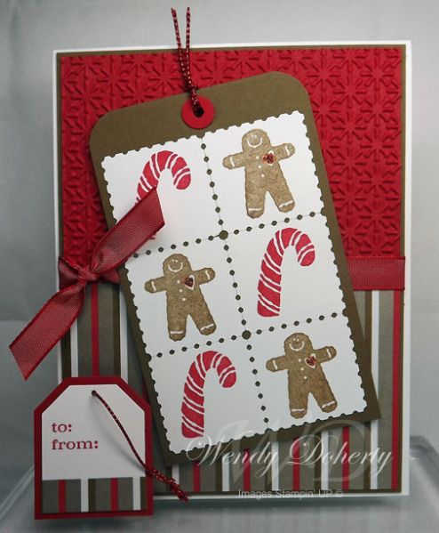 Postage Stamp Holiday Tag by Wdoherty - Cards and Paper Crafts at Splitcoaststampers