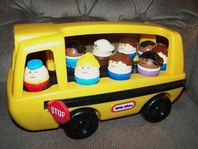 All aboard the Vintage Little Tikes school bus - still have this  wow