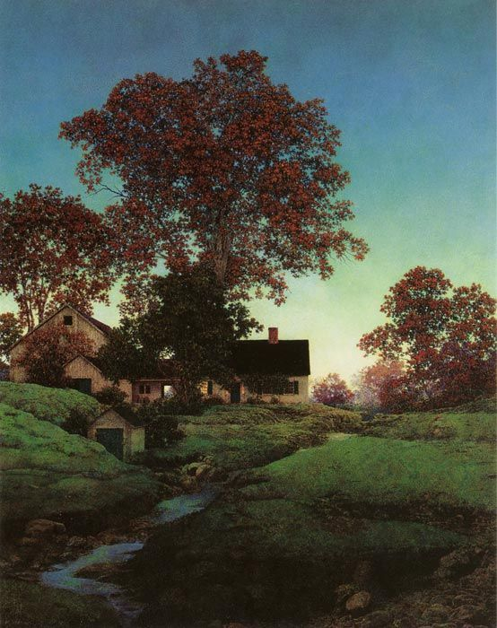"Maxfield Parrish, ""Evening"""