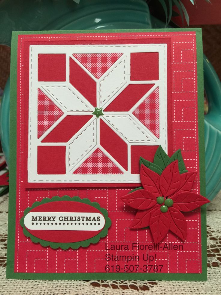 Image Result For Quilted Christmas Stampin Up Framelits Card Ideas Stamped Christmas Cards Christmas Cards Christmas Cards Handmade