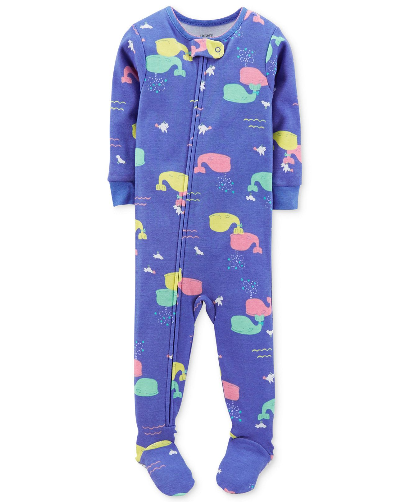 175e3d051f6a Carter s Baby Girls  Whale Coverall - Kids Baby Boy (0-24 months ...
