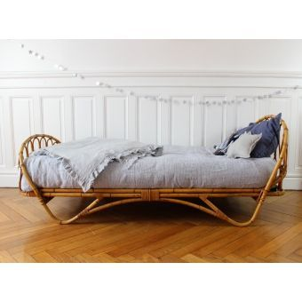 Vintage Rattan Toddler Beds.... (From Moon To Moon). Rattan DaybedBamboo SofaRattan  Outdoor ...