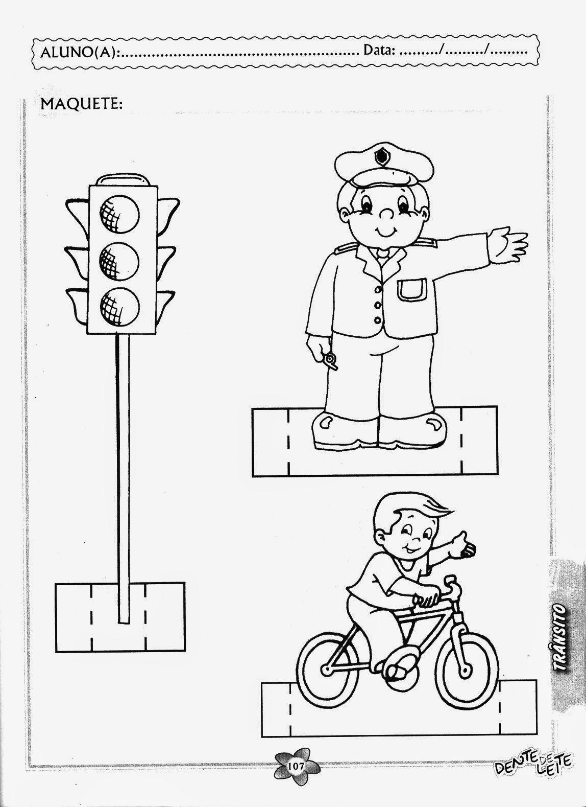 Projeto Transito Educacao Infantil Atividades Semaforo Transporte