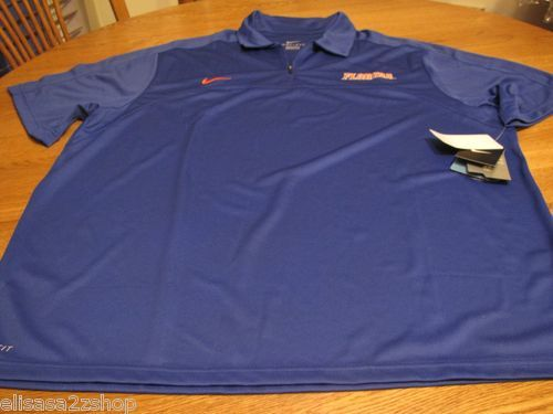 Men's Nike Florida Gator's short sleeve shirt zip medium M DRI Fit royal orange