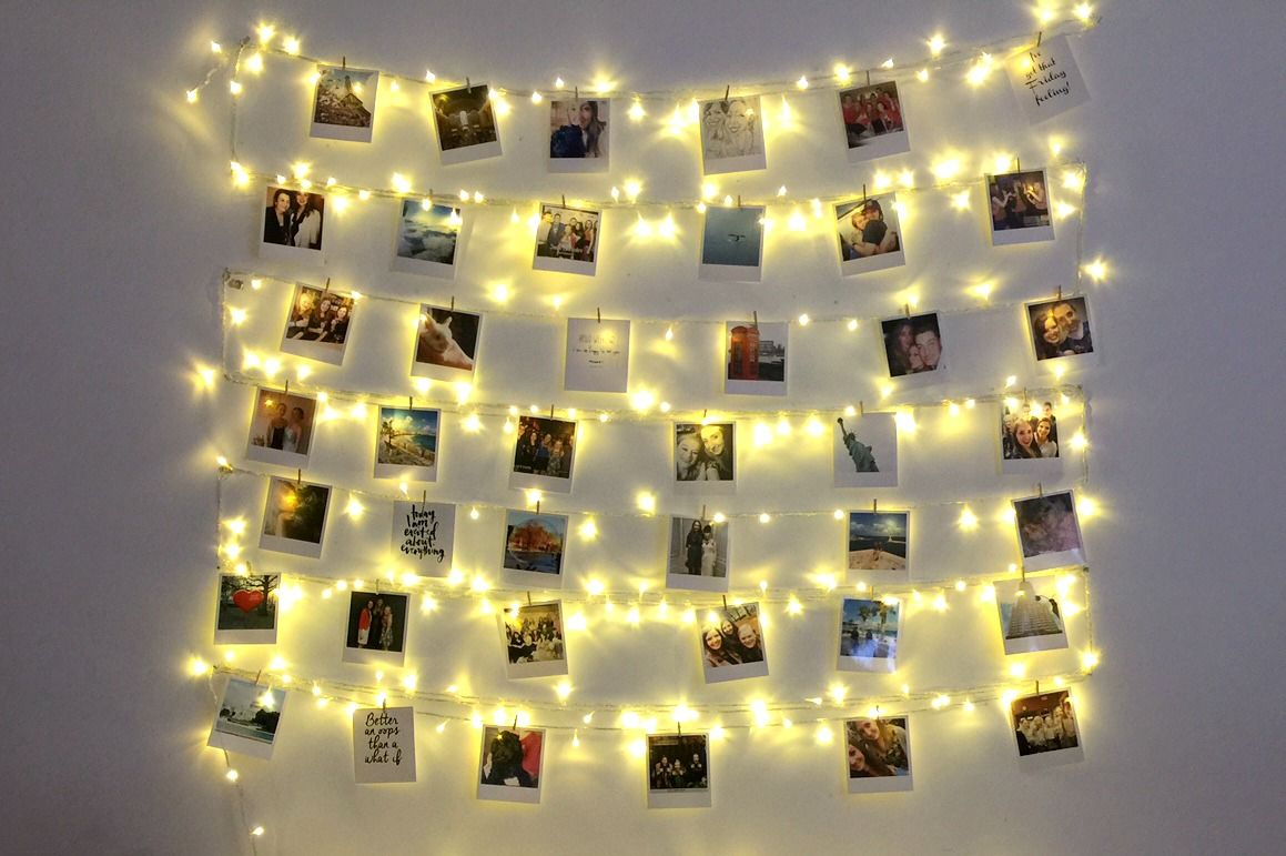 Diy Fairy Light Photo Collage Amp Affordable Polaroid Prints