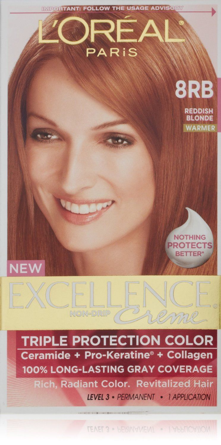 L Oreal Paris Excellence Color 8rb Reddish Blonde Pack Of