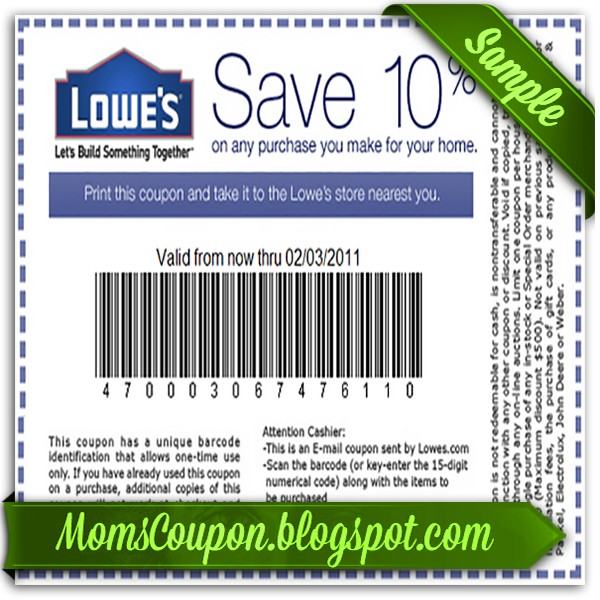 photo about Lowes 10% Printable Coupon referred to as Lowes coupon 10 off - Drugstore coupon 10 off