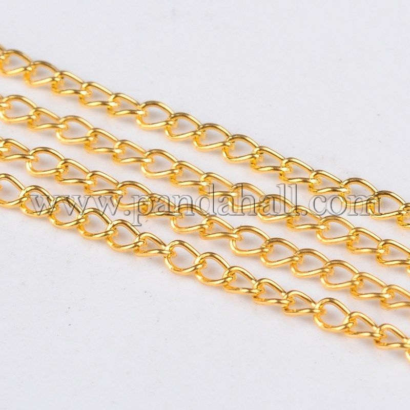 100m Iron Cross Cable Chains Oval Come On Reel For DIY Necklace Jewelry Making