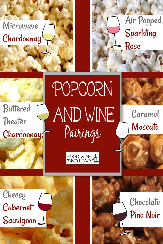 Popcorn And Wine Pairings Wine Popcorn Winepairing Wine Food Pairing Wine Party Food Wine Recipes