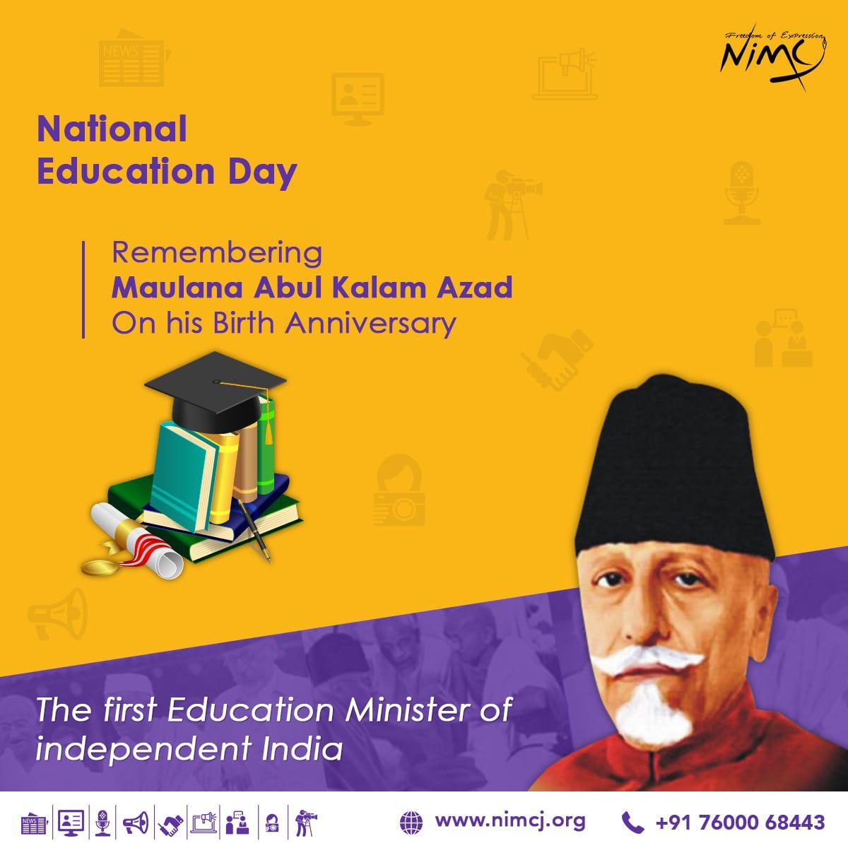 Maulana Abul Kalam Azad Education day, Education, India