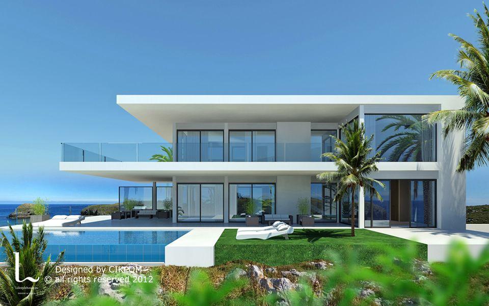 Modern Villas For Sale In Ibiza Modern Architecture House Modern House Exterior Contemporary House Design Contemporary house on sale