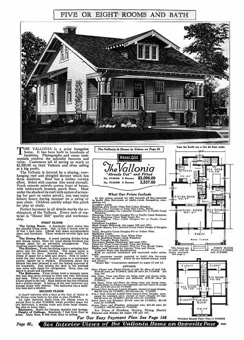 Sears Vallonia Kit Sears Modern Homes Bungalow House Plans House Remodeling Plans Craftsman House Plans