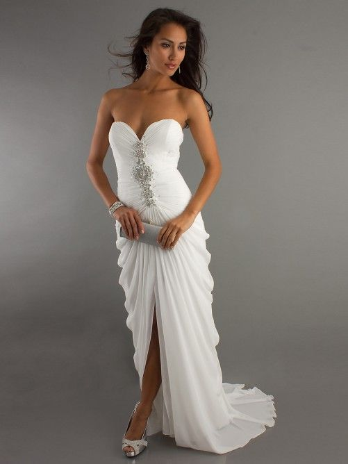 Strapless Chiffon Prom Dress - Ocodea.com