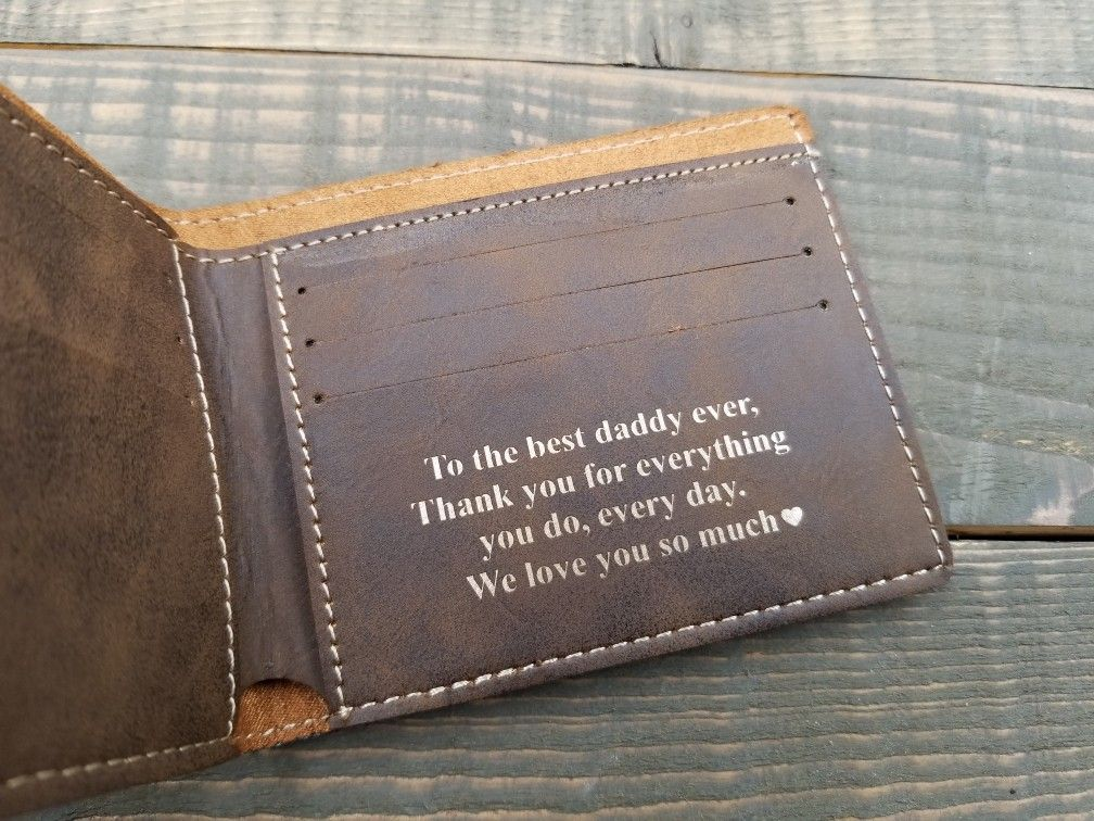 Personalized Coffee Lover Genuine Leather Money Clip
