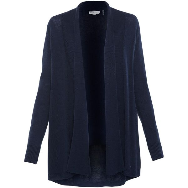 Repeat Cashmere Navy Long Cotton Cardigan ($240) ❤ liked on ...
